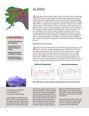 Primary view of object titled 'Climate Change Impacts on the United States The Potential Consequences of Climate Variability and Change.  Overview:  Alaska.'.