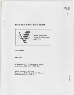 Primary view of object titled 'Vertical integration of science, technology, and applications fiscal year 1989 annual report'.