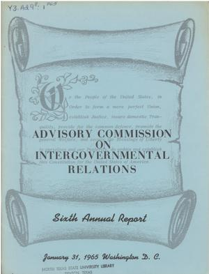 Primary view of object titled '6th Annual Report'.