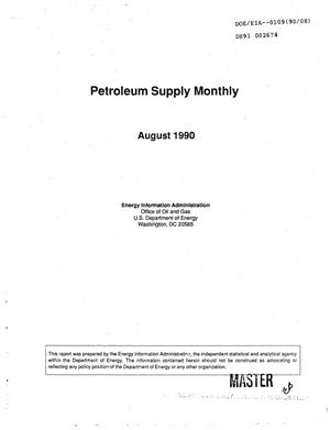 Primary view of object titled 'Petroleum Supply Monthly, August 1990'.
