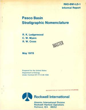 Primary view of object titled 'Pasco Basin stratigraphic nomenclature'.