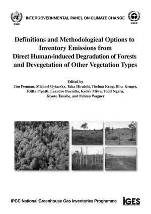 Primary view of object titled 'Definitions and Methodological Options to Inventory Emissions from Direct Human-induced Degradation of Forests and Devegetation of Other Vegetation Types'.