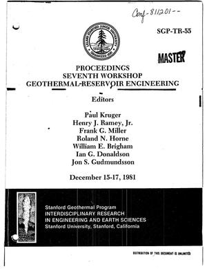 Primary view of object titled 'Proceedings of the seventh workshop on geothermal-reservoir engineering'.