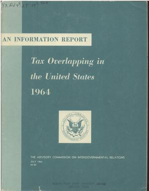 Primary view of object titled 'Tax overlapping in the United States, 1964'.