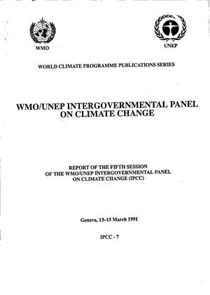 Report of the Fifth Session of the Intergovernmental Panel on Climate Change (IPCC)