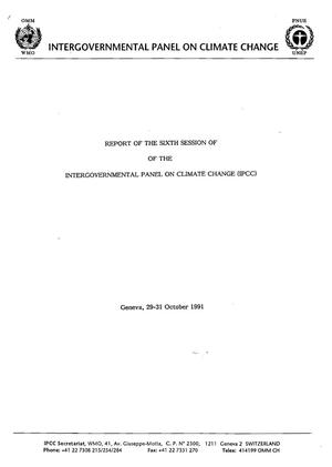 Primary view of object titled 'Report of the Sixth Session of the Intergovernmental Panel on Climate Change (IPCC)'.