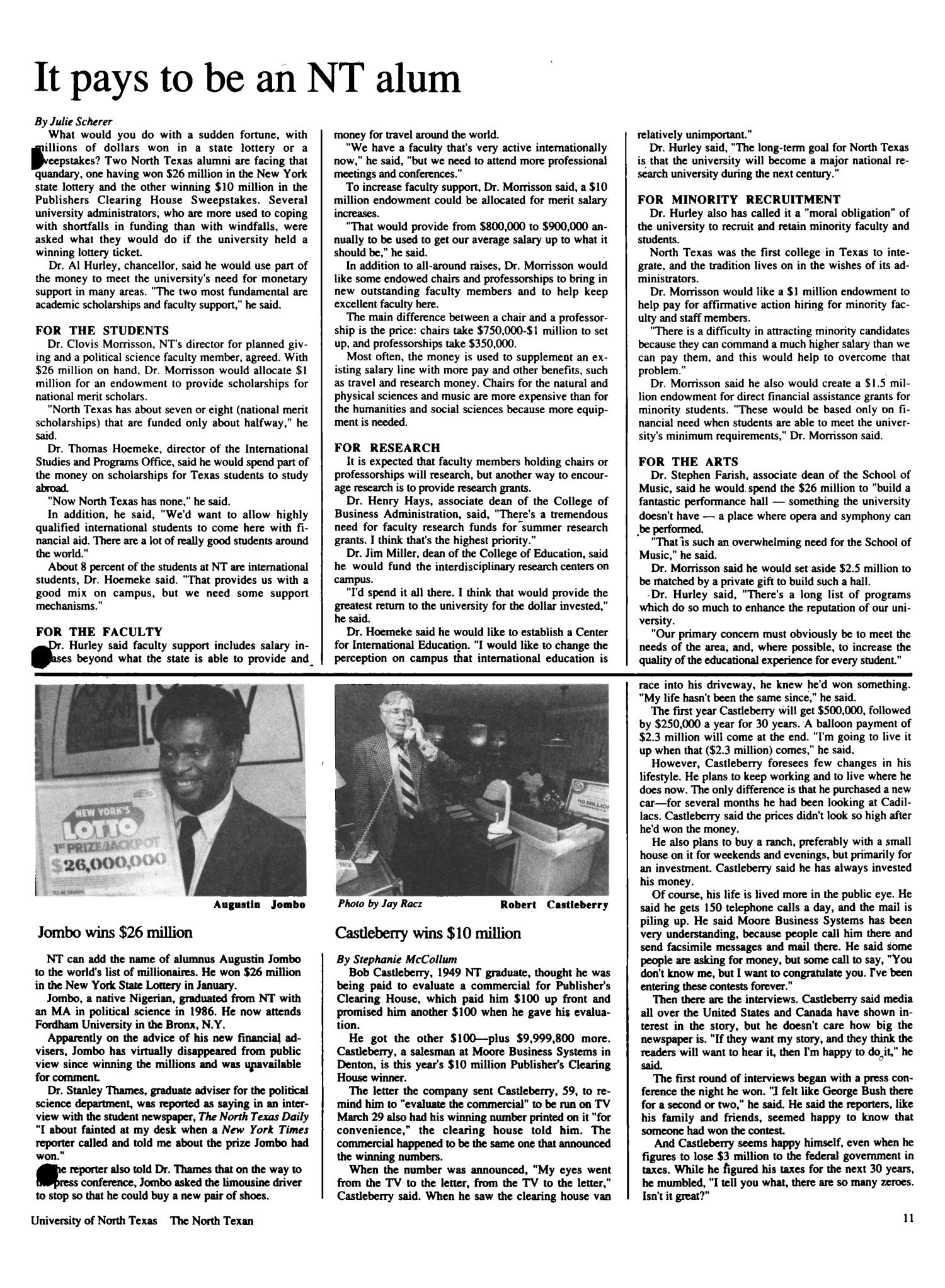 The North Texan, Volume 39, Number 3, Summer 1989                                                                                                      11