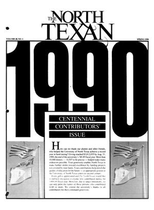 Primary view of object titled 'The North Texan, Volume 40, Number 1, Spring 1990'.