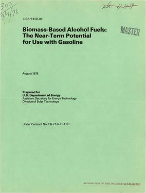 Primary view of object titled 'Biomass-based alcohol fuels: the near-term potential for use with gasoline'.