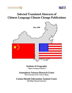Primary view of object titled 'Selected Translated Abstracts of Chinese-Language Climate Change Publications'.