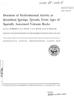 Primary view of object titled 'Duration of Hydrothermal Activity at Steamboat Springs, Nevada, From Ages of Spatially Associated Volcanic Rocks'.