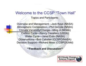 Primary view of object titled 'Climate Change Science Program Overview and Management'.