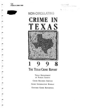 Primary view of object titled 'Texas Crime Report 1998'.