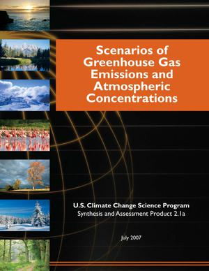 Primary view of object titled 'Scenarios of Greenhouse Gas Emissions and Atmospheric Concentrations'.
