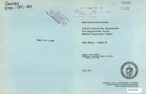 Airborne Gamma-Ray Spectrometer and Magnetometer Survey, Medford Quadrangle, Oregon: Final Report, Volume 2