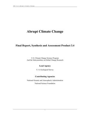 Abrupt Climate Change: Final Report