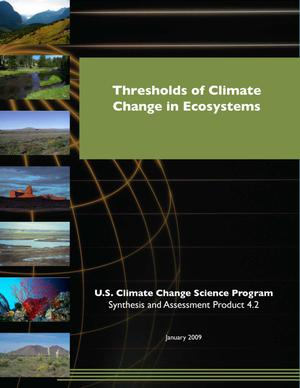 Primary view of object titled 'Thresholds of Climate Change in Ecosystems'.