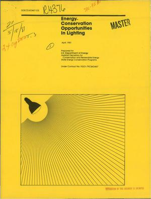 Primary view of object titled 'Energy-conservation opportunities in lighting'.