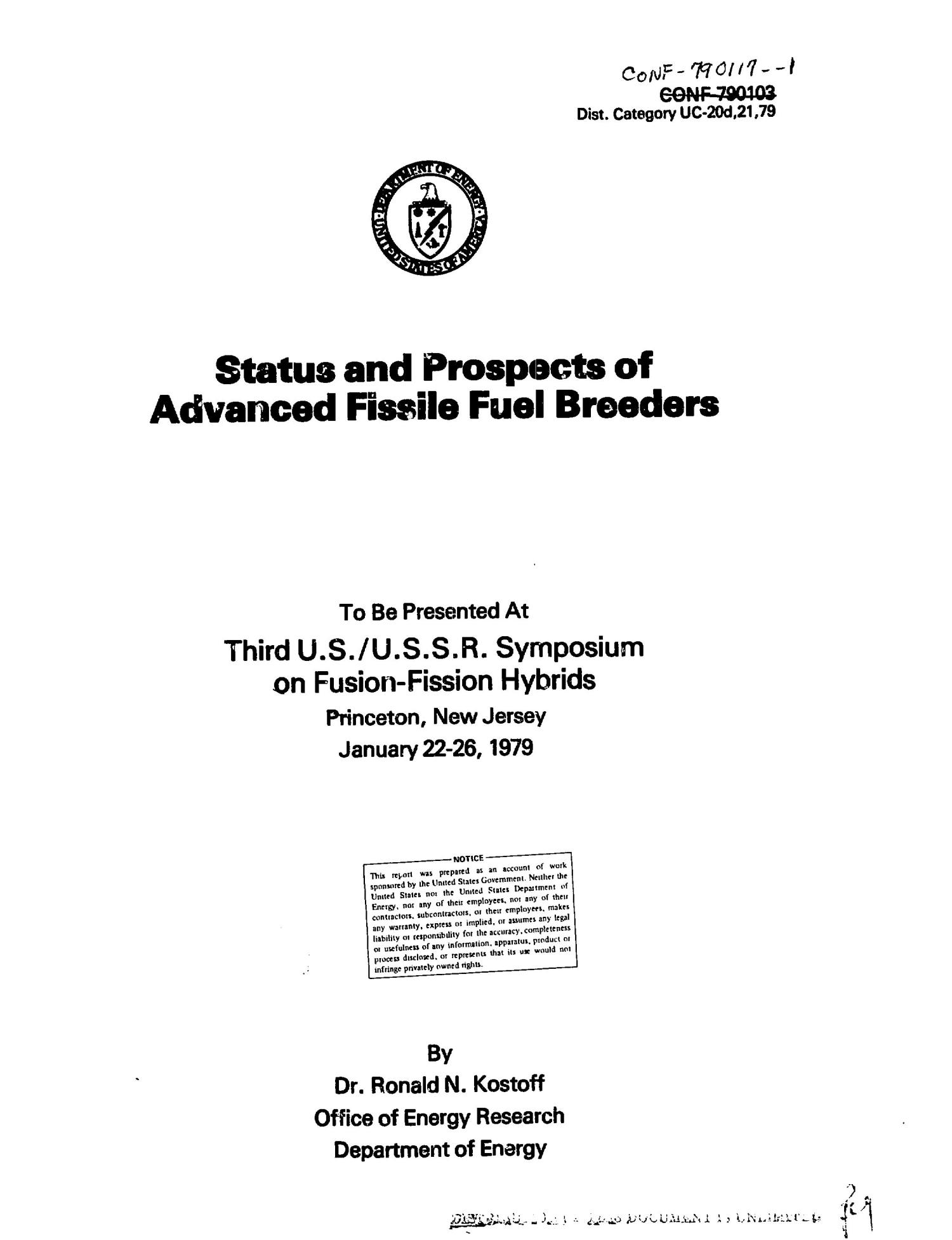 Status and prospects of advanced fissile fuel breeders                                                                                                      [Sequence #]: 2 of 130
