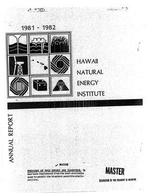 Primary view of object titled 'Annual report, July 1981-June 1982'.