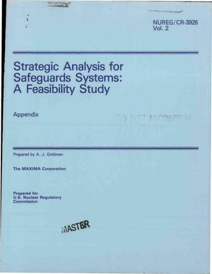 Primary view of object titled 'Strategic analysis for safeguards systems: a feasibility study. Volume 2. Appendix'.