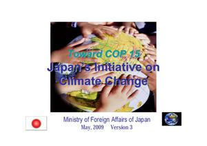 Primary view of object titled 'Japan's Initiative on Climate Change'.