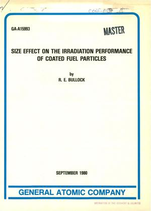 Primary view of object titled 'Size effect on the irradiation performance of coated fuel particles'.