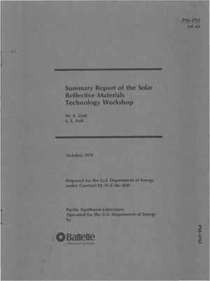 Primary view of object titled 'Summary report of the Solar Reflective Materials Technology Workshop'.