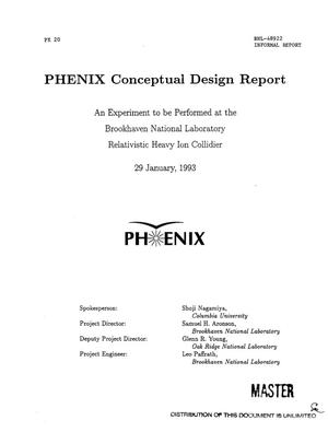 Primary view of object titled 'PHENIX Conceptual Design Report'.