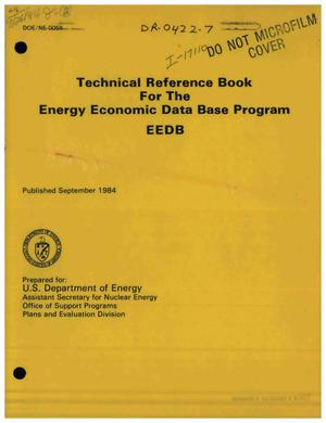 Primary view of object titled 'Technical reference book for the Energy Economic Data Base (EEDB) Program'.