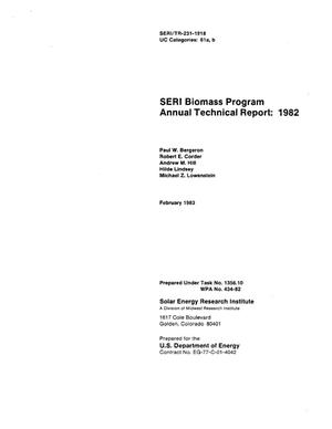 Primary view of object titled 'SERI biomass program annual technical report: 1982'.