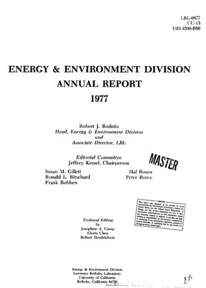 Primary view of object titled 'Energy and Environment Division annual report, 1977'.
