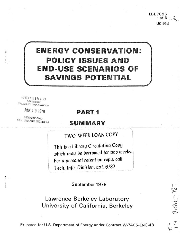 issues with energy conservation