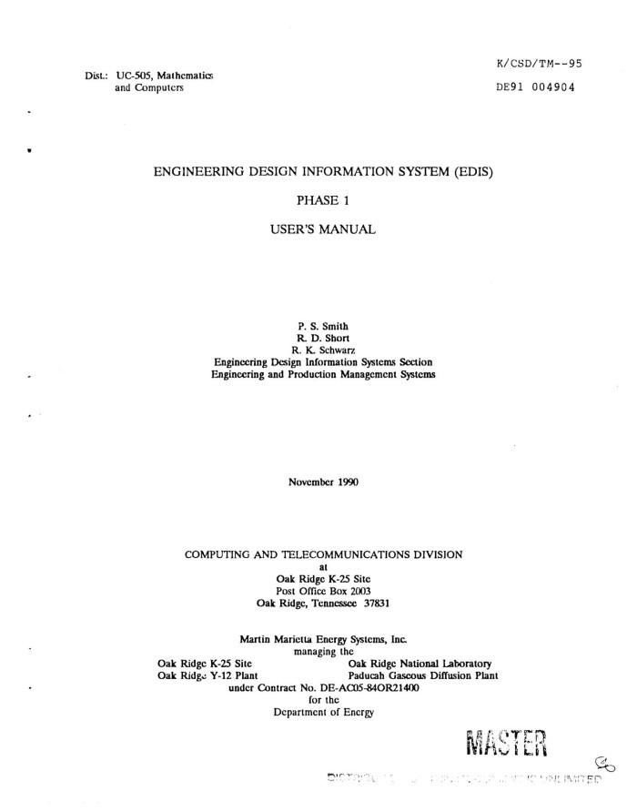 Engineering Design Information System Edis Unt Digital Library