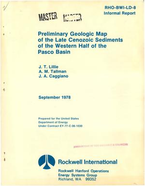 Primary view of object titled 'Preliminary geologic map of the late Cenozoic sediments of the western half of the Pasco Basin'.