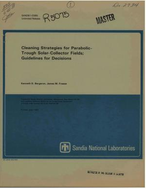Primary view of object titled 'Cleaning strategies for parabolic-trough solar-collector fields; guidelines for decisions'.