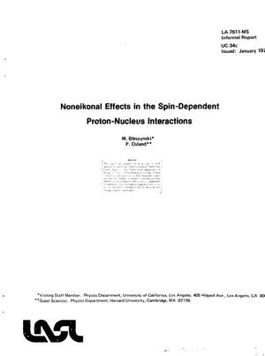 Primary view of object titled 'Noneikonal effects in the spin-dependent proton--nucleus interactions. [Scattering amplitudes, 800 MeV, Glauber diffraction]'.