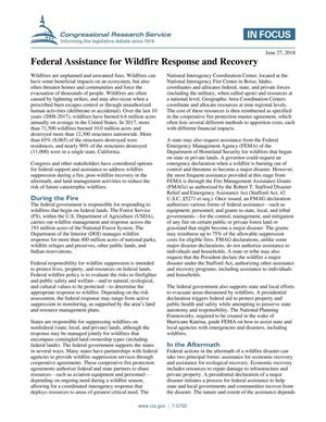 Primary view of object titled 'Federal Assistance for Wildfire Response and Recovery'.