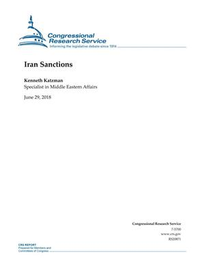Primary view of object titled 'Iran Sanctions'.