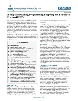 Primary view of object titled 'Intelligence Planning, Programming, Budgeting and Evaluation Process (IPPBE)'.