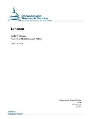 Primary view of object titled 'Lebanon'.