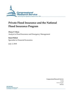 Primary view of object titled 'Private Flood Insurance and the National Flood Insurance Program'.