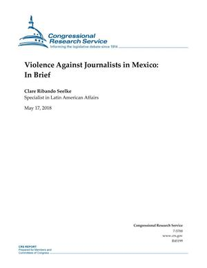 Primary view of object titled 'Violence Against Journalists in Mexico: In Brief'.