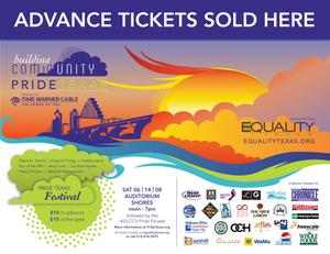 Primary view of object titled '[Pride Texas Festival 2008 advance tickets poster]'.
