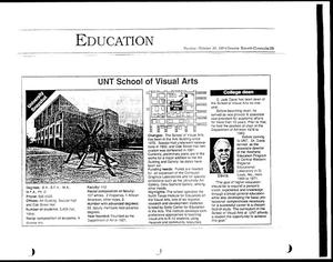 Primary view of object titled '[Denton Record-Chronicle 'Education', October 30, 1994]'.