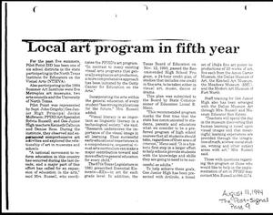 Primary view of object titled '[Article from The Post Signal, August 11, 1994]'.