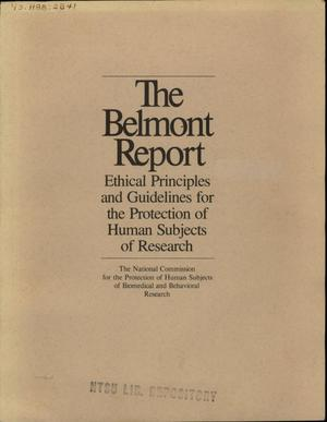 The Belmont Report: Ethical Principles and Guidelines for the Protection of Human Subjects of Research