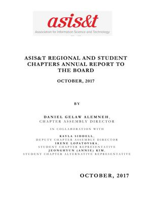 Primary view of object titled 'ASIS&T Regional and Student Chapters Annual Report to the Board'.