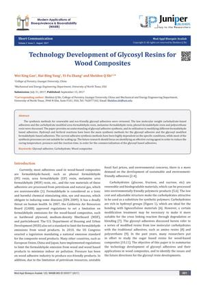 Technology Development of Glycosyl Resins for Wood Composites