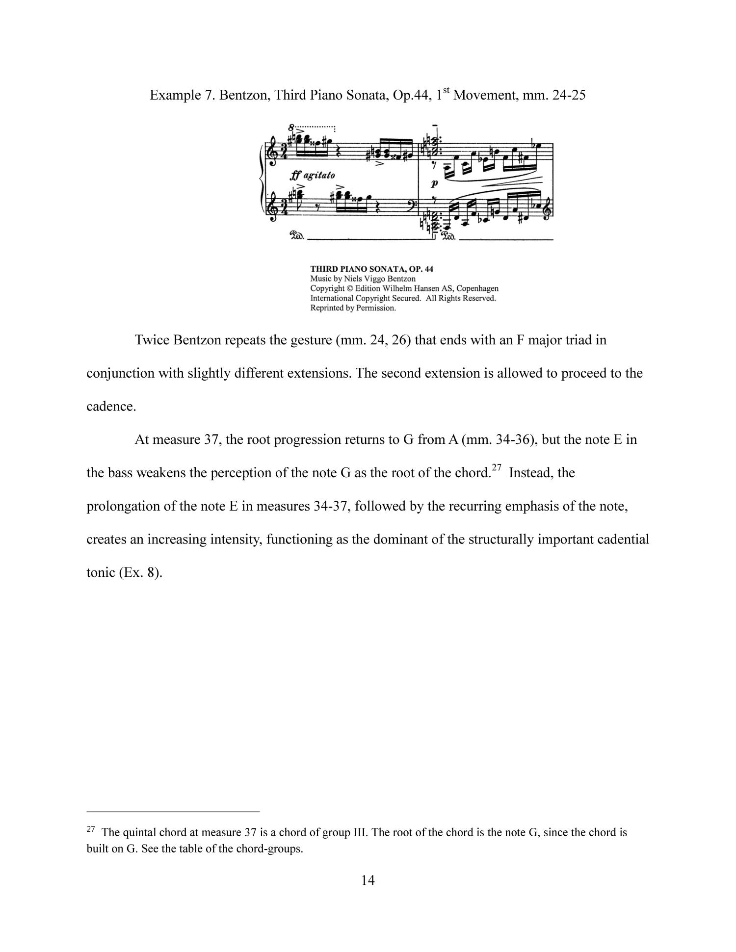 An Analytical Study: Applying Hindemith's Tonal Theory to Niels